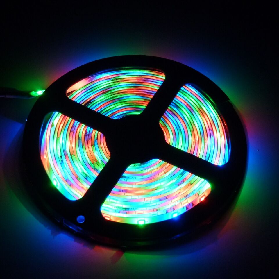 LED, 5m 3528 RGB LED-strip / LED bånd