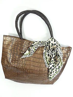 Damentasche 2 in 1 Lederkrokodesign mit Innentasche, Shopper, Tasche TA2020