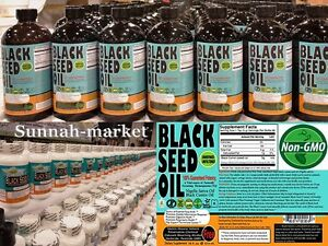 Details about Sweet Sunnah 100% Pure Organic Black Seed Oil Cold Pressed  Cumin Nigella Sativa