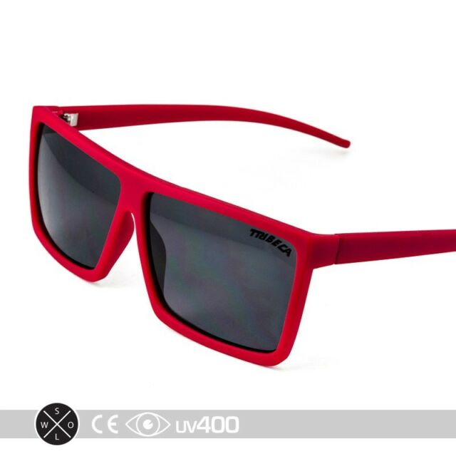 Red Square Aviator Sunglasses Shades Matte Flat Top Frame Smoke Lens ...