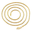 Ladies-18-034-Inch-22K-Yellow-Gold-GP-Snake-Chain-Link-3mm-Necklace-N43