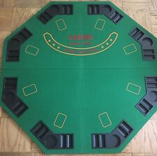 Folding Poker Table Top 8 Player Carry Bag Travel