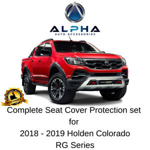 2018-19-Holden-Colorado-RG-Front-Rear-Waterproof-Neoprene-Custom-Seat-Covers-Set