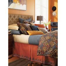 Sferra 1891 Blue Eyes GARLAND Bed Skirt Sunset 100% Linen TWIN - NEW!