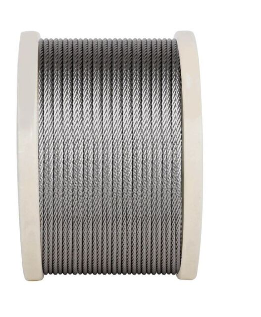 Stainless Steel Grade 316 Wire Rope Cable 7x7 - 6mm - 8mm - 10mm 50M Reels