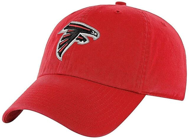 9c5268fc7dab80 ATLANTA FALCONS UNISEX ADULT ADJUSTABLE LOW-PROFILE RED CAP HAT WITH TEAM  LOGO
