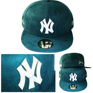 New-Era-MLB-York-Yankees-5950-Cappello-Aderente-Verde-Scuro-Camoscio-Cap-Logo