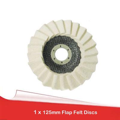 """Ø125mm 5 /""""Feutre rabat Disque Meuleuse d/'angle de polissage Roue polissage métal"""