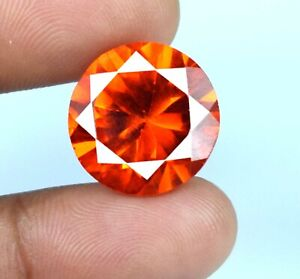 Natural Padparadscha Orange Sapphire Round Gemstone 26.35 Ct Certified A34861