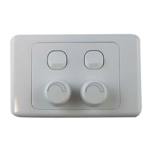 4-Gang-Wall-Plate-with-Switch-amp-LED-Light-Dimmer-SAA-Approved