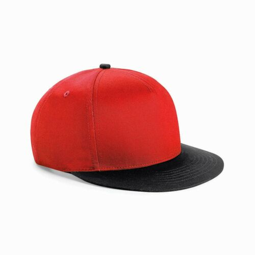 Beechfield Giovanile Cappellino Baseball Cotone Unisex Bambini Varsity Retrò Cappello Piatto