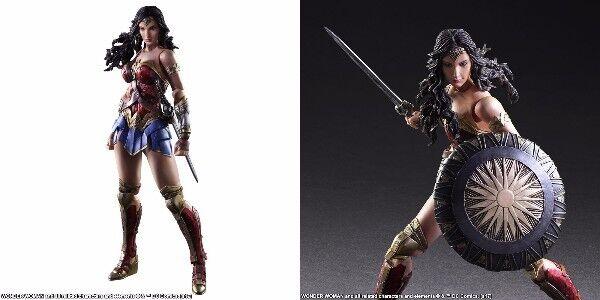 NEW SQUARE ENIX WONDER Damenschuhe PLAY ARTS Kai Wonder Woman PVC Figure 2017 Japan