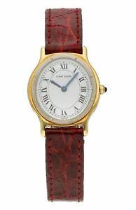 Cartier Oval 18k Yellow Gold & Steel Manual-Wind 24mm x 26mm Ladies Watch