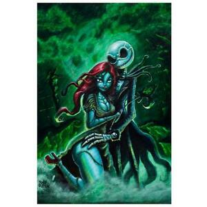 Details About Jack And Sally By Joey Rotten Art Print Pumpkin King Skellington Skeleton Poster
