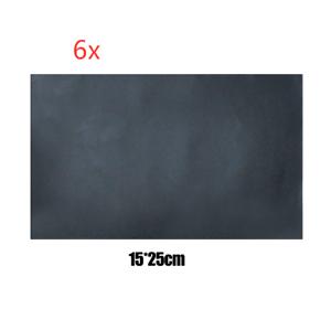 6x selbstklebend patch 15x25cm lederreparatur kunstleder flicken schwarz ebay. Black Bedroom Furniture Sets. Home Design Ideas