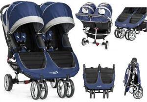 WoZEK-GESCHWISTERWAGEN-BABY-Jogger-CITY-MINI-DOUBLE-TEAL-Twin-Baby-Pushchair