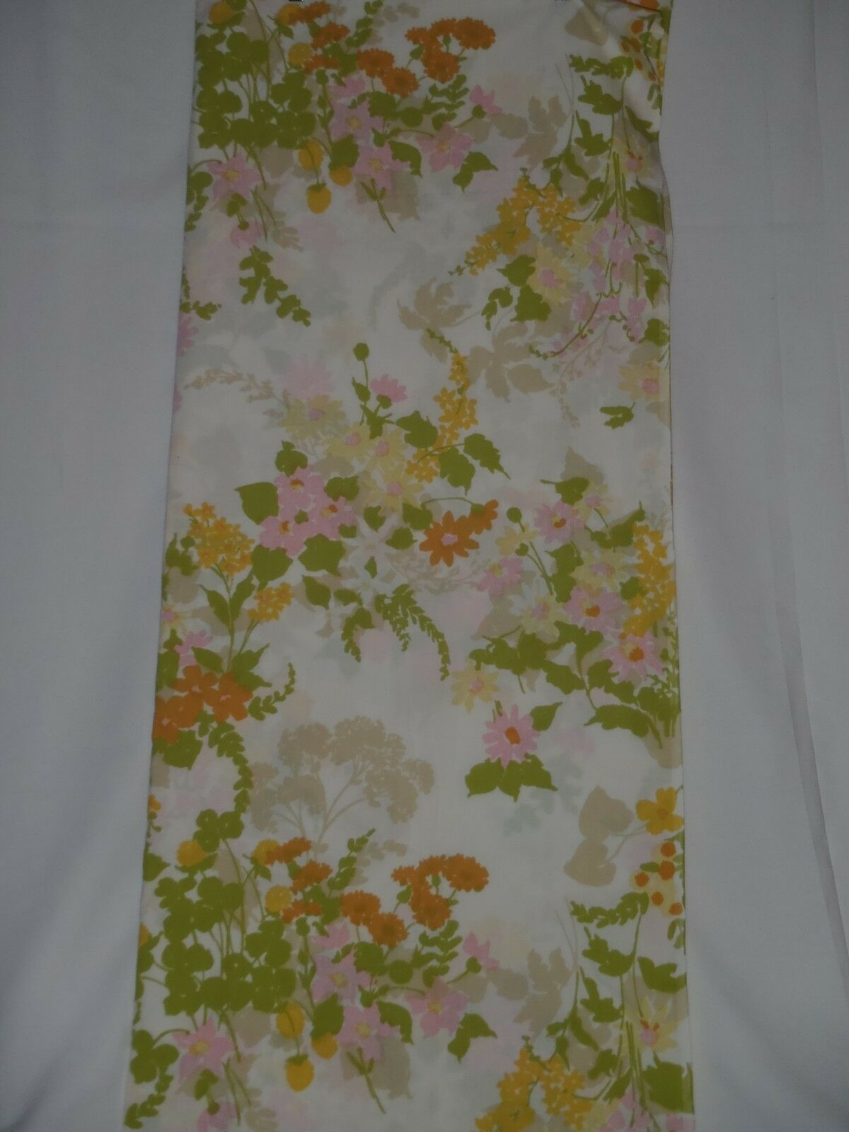 Vintage Pacific Miracale Floral Pink bluee Yellow Full Double Flat Sheet