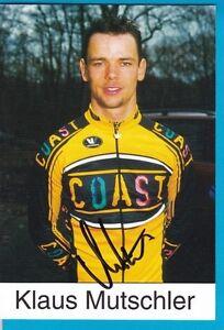 CYCLISME-carte-cycliste-KLAUS-MUTSCHLER-equipe-COAST-signee