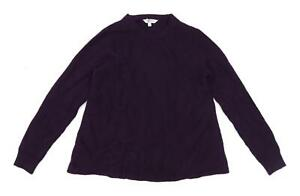LK-Bennett-Womens-Size-S-Wool-Blend-Purple-Jumper-Regular