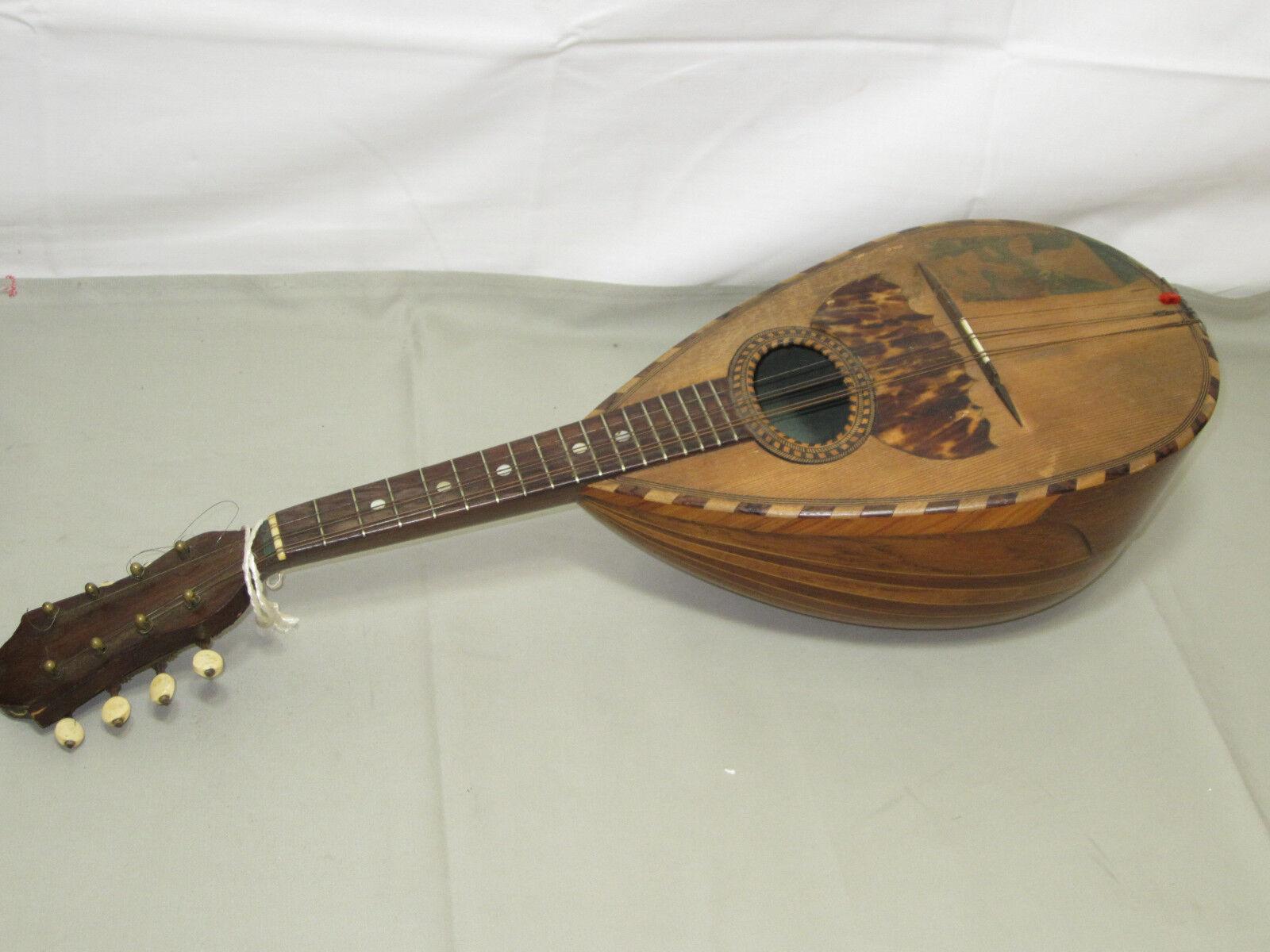 1x alte Mandoline G. Puglisi Reale Figli 8-saitig L.60cm gebraucht/Si268.2