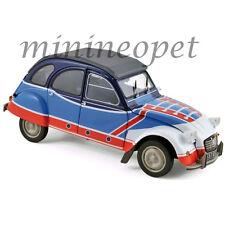 NOREV 181498 1976 CITROEN 2CV A BASKET 1/18 DIECAST MODEL CAR BLUE / RED / WHITE
