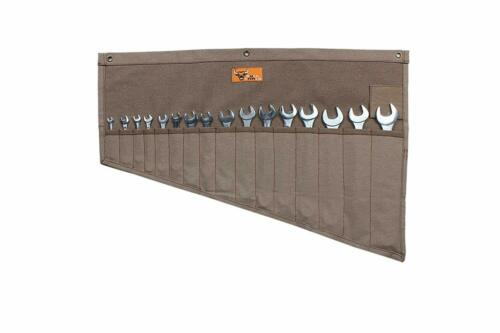 Wrench Tool Pouch Roll Up 16 Pocket Storage Organizer Mechanics Garage Work Wrap