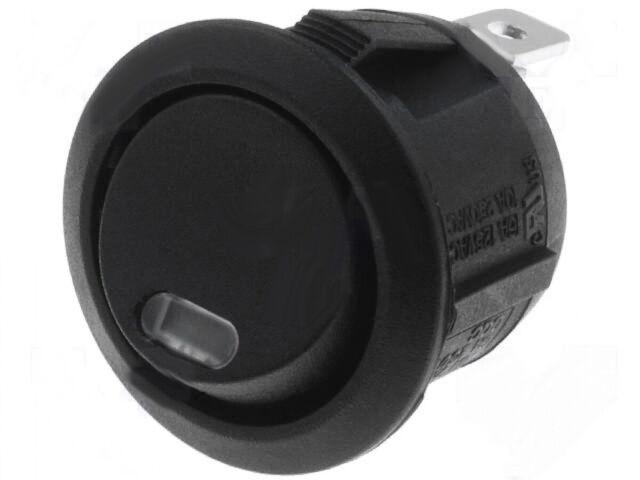 Wippentaster Taster rund mit Kontrolleuchte rot für 12V DC