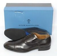 Mens Sutor Mantellassi Brown Leather Captoe Oxford Shoes Uk 8 Us 9 D $975 on sale