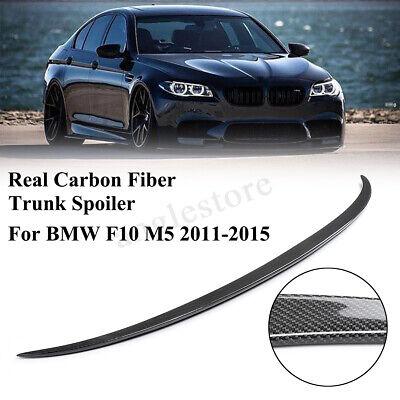 Carbon Fiber Trunk Lid Spoiler Wing For BMW F10 5 Series 528i 535i M5 2011-16