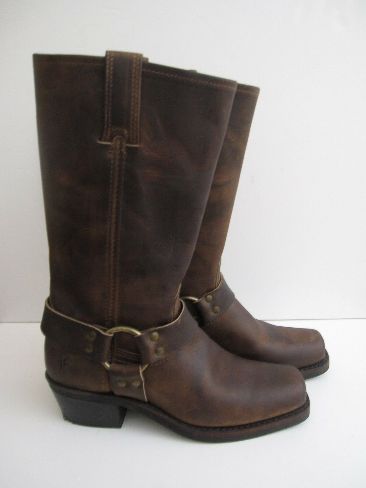 FRYE BROWN HARNESS MOTORCYCLE BOOTS 77300 6.5 CLASSIC REDUCED