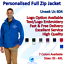 Personalised-Custom-Embroidered-Unisex-Micro-Fleece-Jacket-Text-Logo-Work-Wear thumbnail 10
