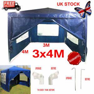 3x4M Blue Outdoor Car Canopy Portable Cover Gazebo Garage ...