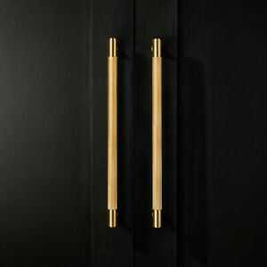 Solid-Brass-Gold-Gunmetal-Grey-and-Silver-Knurled-Door-And-Drawer-Bar-Handles