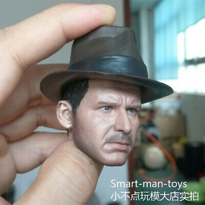 1//6 Soldier Accessories Indiana Jones Head Sculpt Carved Harrison Ford Male Toys