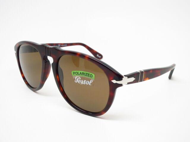 9fd705ef7c04 Persol PO 649 0649 24/57 Havana w/Crystal Brown Polarized Sunglasses 54mm  for sale online