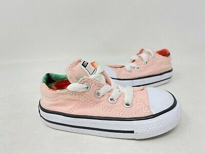 NEW! Converse Toddler Girl's Madison Lace Up Sneakers Pink #756681F 153C tk | eBay