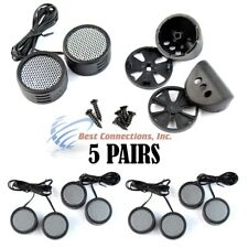 5 Pairs 2000W Total Power Super High Frequency Mini Dome 1 Inch Car Tweeters 5x Consumer Electronics