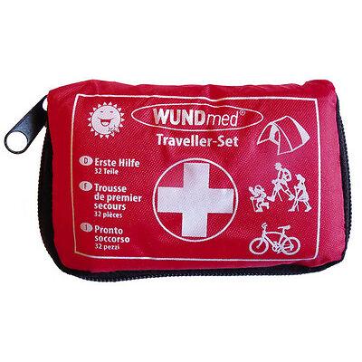 Erste Hilfe Set Kit Tasche Notfallmedizin Notfalltasche Reise Set  Wundmed 32 Te