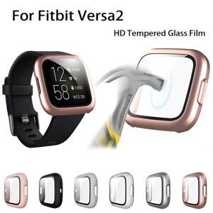 Pantalla Funda Protectora Marco Para Fitbit Versa 2 Smart Reloj Accesorios UK
