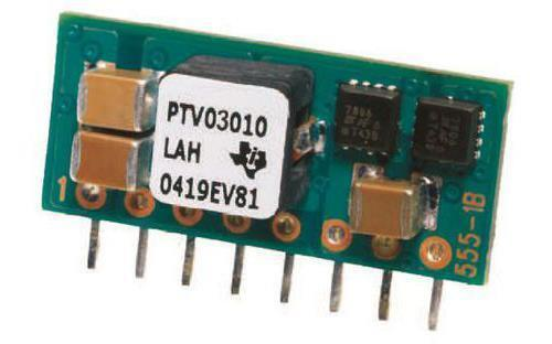 uscita 0.8-1.8V modulo SIP 1 x Texas Instruments CONVERTITORE CC-CC 12 V input