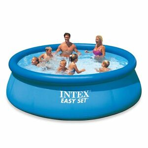 Details about Intex Easy Set Inflatable Swimming Pool & Pump Filter Tough  Backyard Fun 12\'x30\