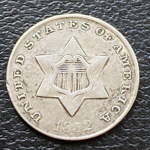 1852 Three Cent Piece Silver Trime 3c Better Grade #29483