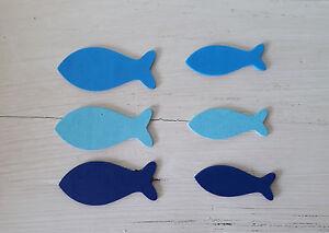 Streuteile Fische Holzfische Badezimmer Deko Maritime Deko Fisch Aus