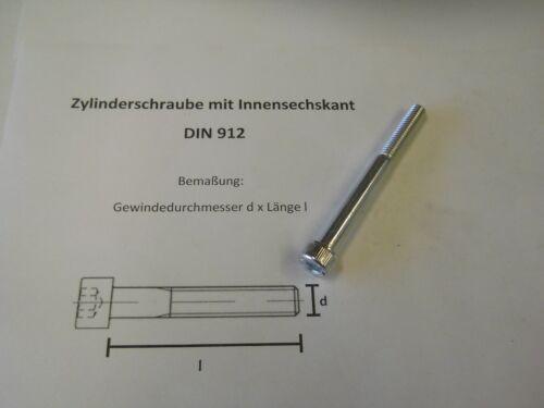 ZYLINDERSCHRAUBEN MIT INNENSECHSKANT 8.8 DIN 912 10 x M 8 x 80