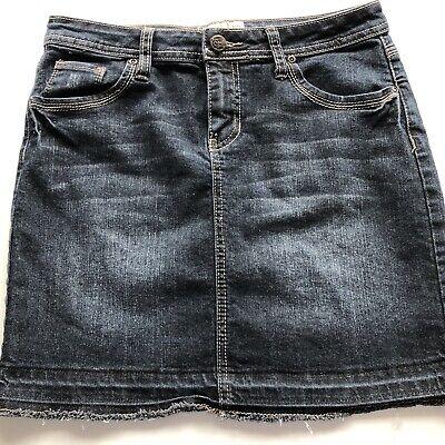 Blue Denim Jeans Skirt EARL JEAN Mini Short Zip Fly 5 Pocket Button SIZE 6