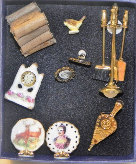 Dollhouse Miniature Reutter Fireplace Accessories For Sale Online