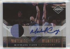 2010-11 Limited Material Monikers Prime /25 Michael Cage #35 Auto