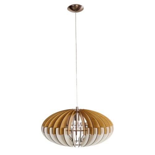 Retro Hänge Lampen Holz Wohn Schlaf Ess Zimmer Raum Beleuchtung Pendel Leuchten