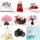 3D Pop Up Greeting Card Handmade Birthday Valentine Christmas Wedding Invitation