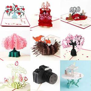 Image Is Loading 3D Luxury Handmade Pop Up Christmas Wedding Birthday